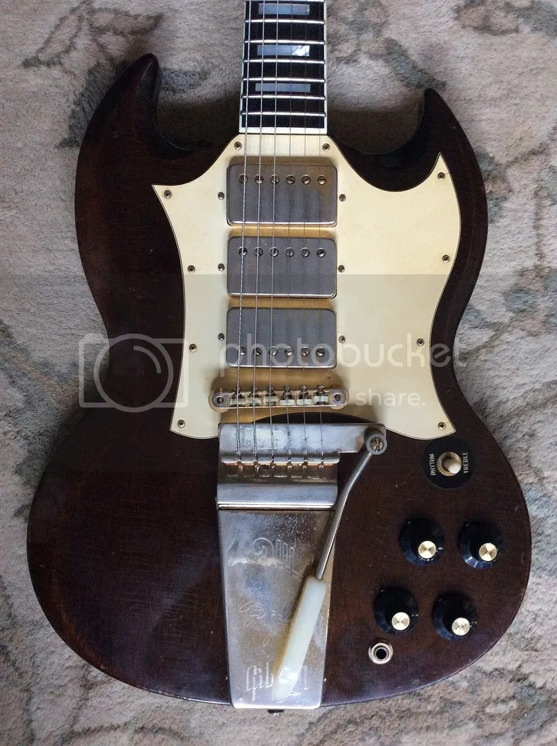 medium resolution of i have a 1968 69 gibson sg custom up for sale the guitar plays great with no issues everything is original besides the expert refret and one volume pot
