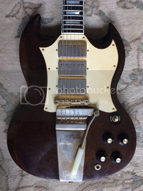 small resolution of i have a 1968 69 gibson sg custom up for sale the guitar plays great with no issues everything is original besides the expert refret and one volume pot