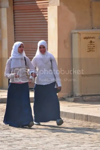 From a very young age schoolgirls in Cairo are pressured toward marriage. Image: Ed Yourton