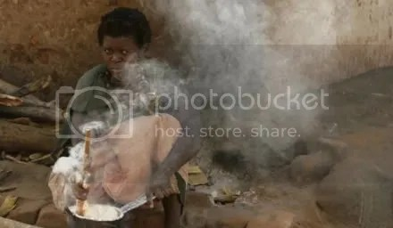 woman cooking in Lipunga, Malawi. Women in Africa often bear the burden of farming to feed their families, while men tend to raise cash crops or leave for work in the cities. (Siphiwe Sibeko/Reuters)
