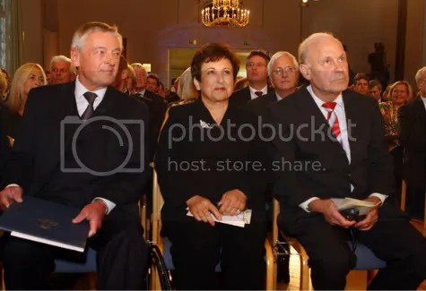 Dr. Shirin Ebadi attending the Tolerance Prize award ceremony where she received recognition