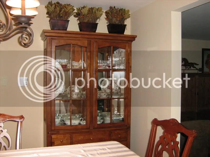 many pics  china cabinet dish arrangement  5 find