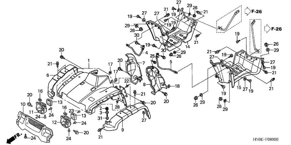 2004 Honda Trx400fa Rancher Parts Diagram. Honda. Auto