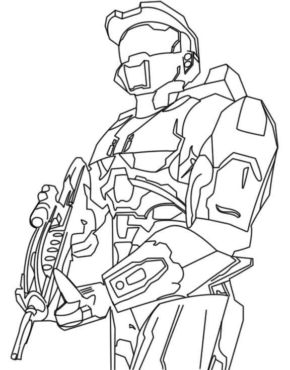 Free coloring pages of halo 5