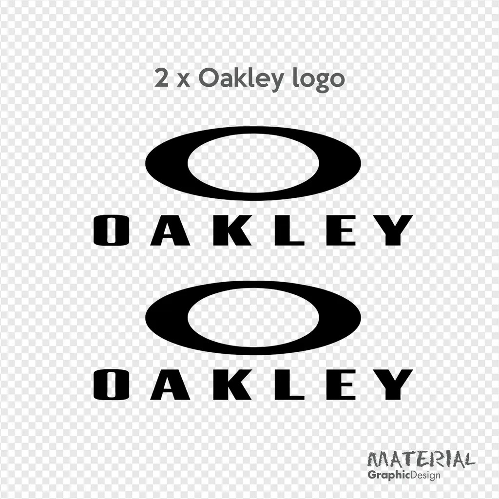 2x Oakley Logo Sticker Decal Sunglasses Car Van Window