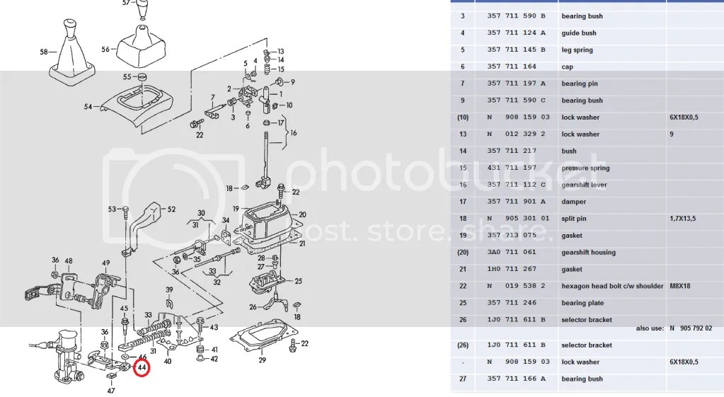 Audi A4 B5 Manual Shift Selector Parts Diagrams. Audi