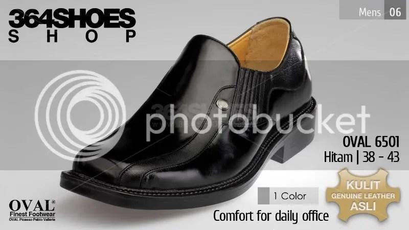 Sepatu Pria OVAL 6501 Warna Hitam