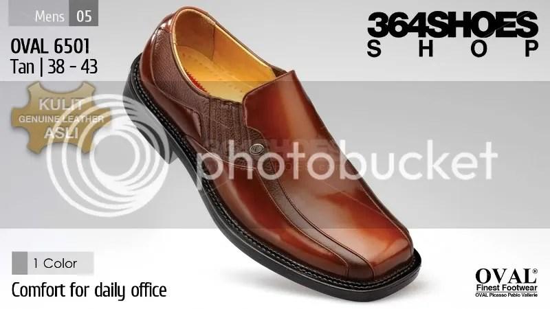 Sepatu Pria OVAL 6501 Warna Tan