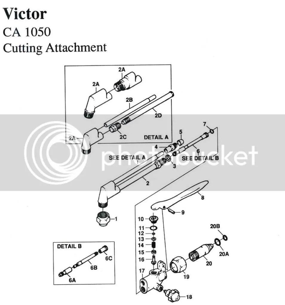 Victor CA1050 CA1060 CA2050 CA2060 Cutting Torch Rebuild
