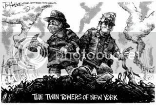 911 Newspaper Firefighter Cartoon