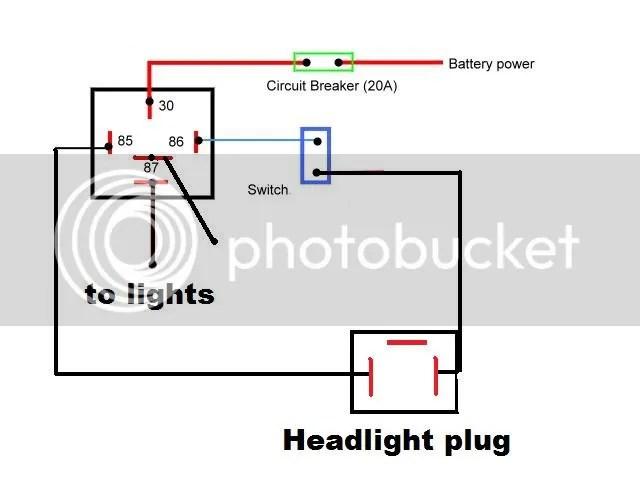 Spotlights Relay Wiring on
