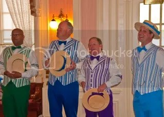 The Dapper Dans performed in the waiting area before we were seated