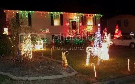 Another view in order to get the other side of the yard. I liek her lights.  They change colors.