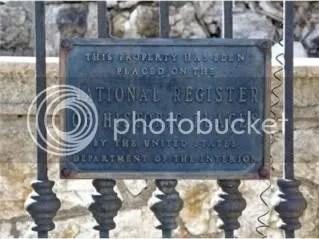 Historic Registry Plaque