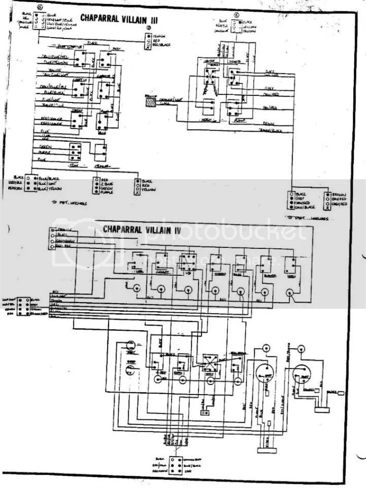 electrical drawings for a 1989 Chaparral Villain III
