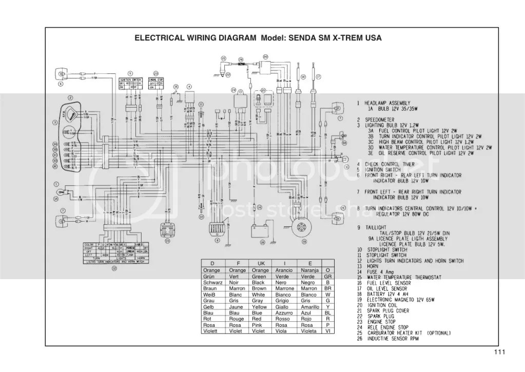 derbi senda xtreme wiring diagram