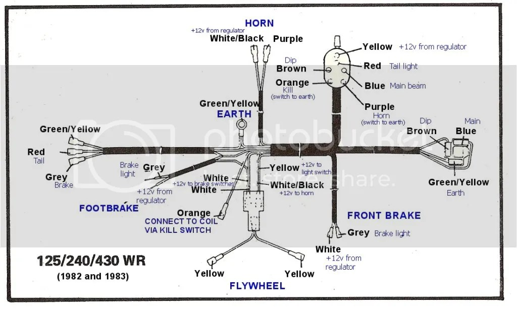 Wiring Diagram ;1983 Husky WR250