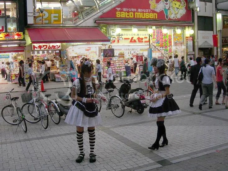 Akihabara Maids at Akiba Electricity Town | Photo by Ricky G. Willems