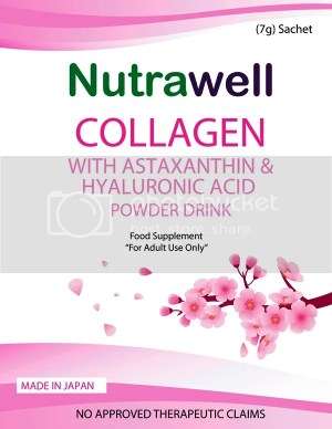 Nutrawell Collagen with Astaxanthin and Hyaluronic Acid Powder Mix #AgeWellWithNutrawell