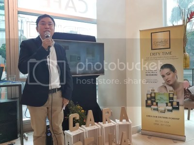 Mr. Rey Ignes at Carabella Pure Collagen Products Launch