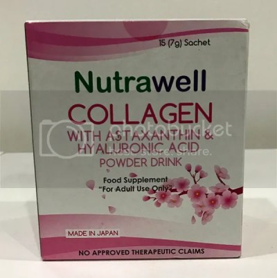 Nutrawell Nutraceuticals Food Supplements Collagen with Astaxanthin and Hyaluronic Acid