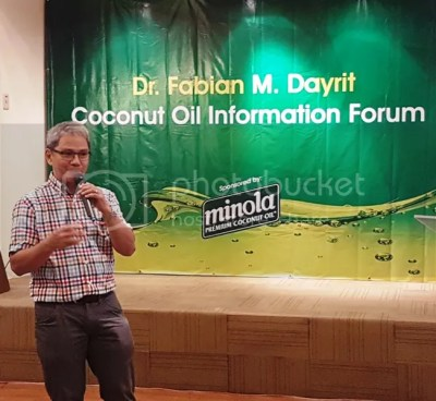 Minola Premium Coconut Cooking Oil - The Truth Shall Make You Healthy! #HealthierAngRelationships Dr. Fabian Dayrit