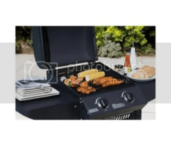 Tesco 2 Burner Gas BBQ with Side Tables