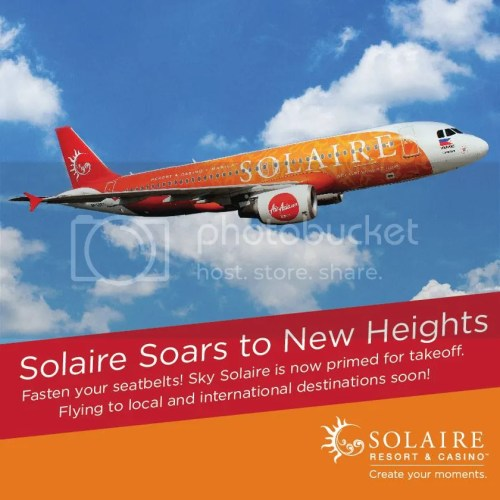 Solaire Resort and Casino Unveils its New Plane Livery #SkySolaire