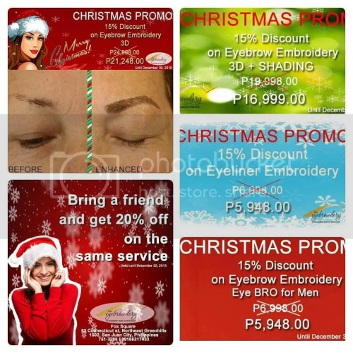 The Eyebrowdery Christmas Discounts