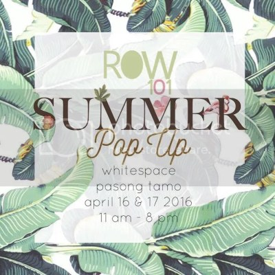 Row101 Pop Up Store Bazaar