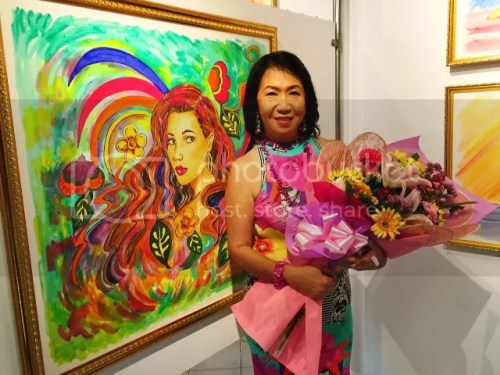 Ginny Guanco Boho in a Solo Art Exhibit