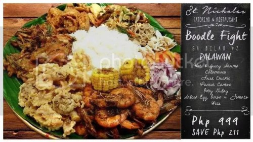 St. Nicholas Catering and Restaurant Boodle Fight sa Bilao Set 2 on SALE!