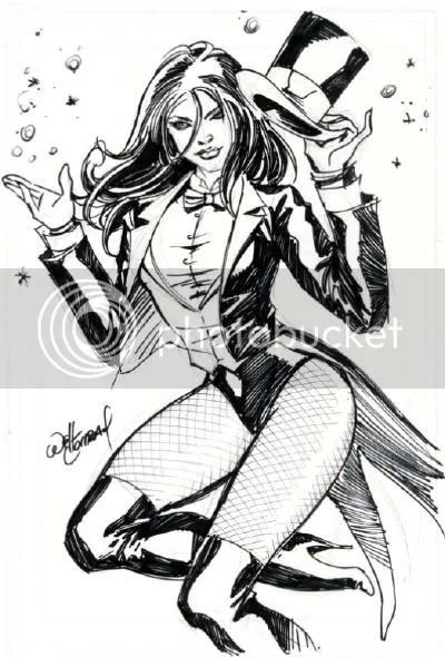 Justice League Detroit: 2011 Zatanna commission by Will Conrad