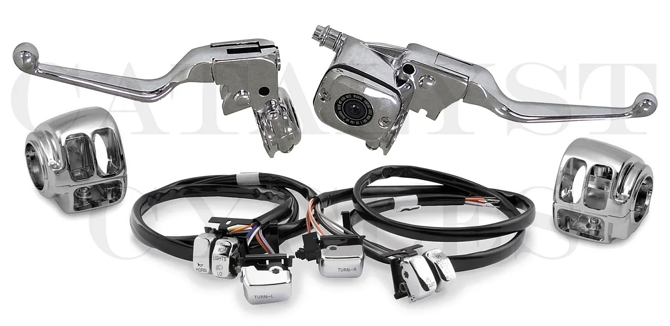 COMPLETE CHROME HAND CONTROLS WITH CHROME SWITCHES (48