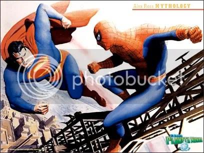 Super-Homem X Homem Aranha, por Alex Ross - CLIQUE PARA FAZER O DOWNLOAD DESTE WALLPAPER