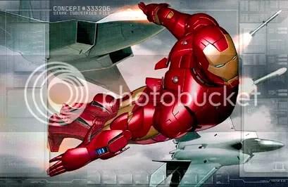 Iron Man - Desenho publicado no site oficial do filme - Clique para ampliar