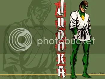 O Judoka, desenho de Eduardo Baron