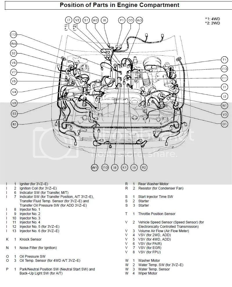 Knock Sensor Location Toyota 4runner Forum Largest V6