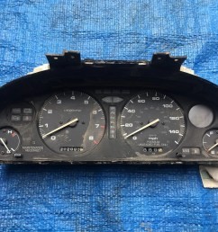 details about oem 1992 1994 acura vigor automatic gauge cluster w 212k miles speedometer [ 1024 x 768 Pixel ]