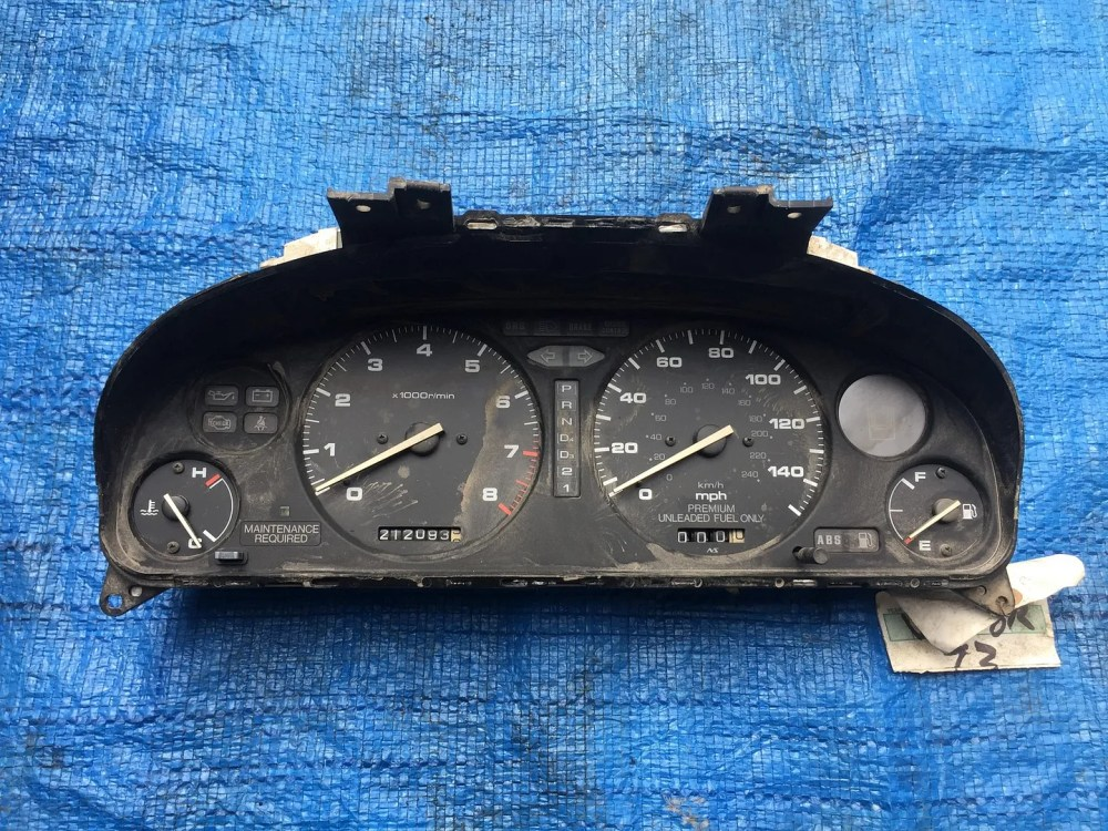 medium resolution of details about oem 1992 1994 acura vigor automatic gauge cluster w 212k miles speedometer