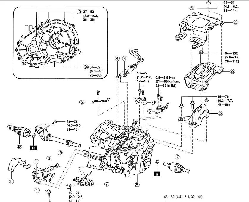 2005 Mazda 3 Axle Shaft Diagram. Mazda. Auto Parts Catalog