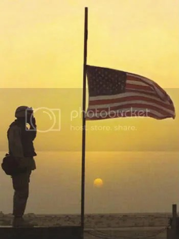 Image result for half mast flag soldier