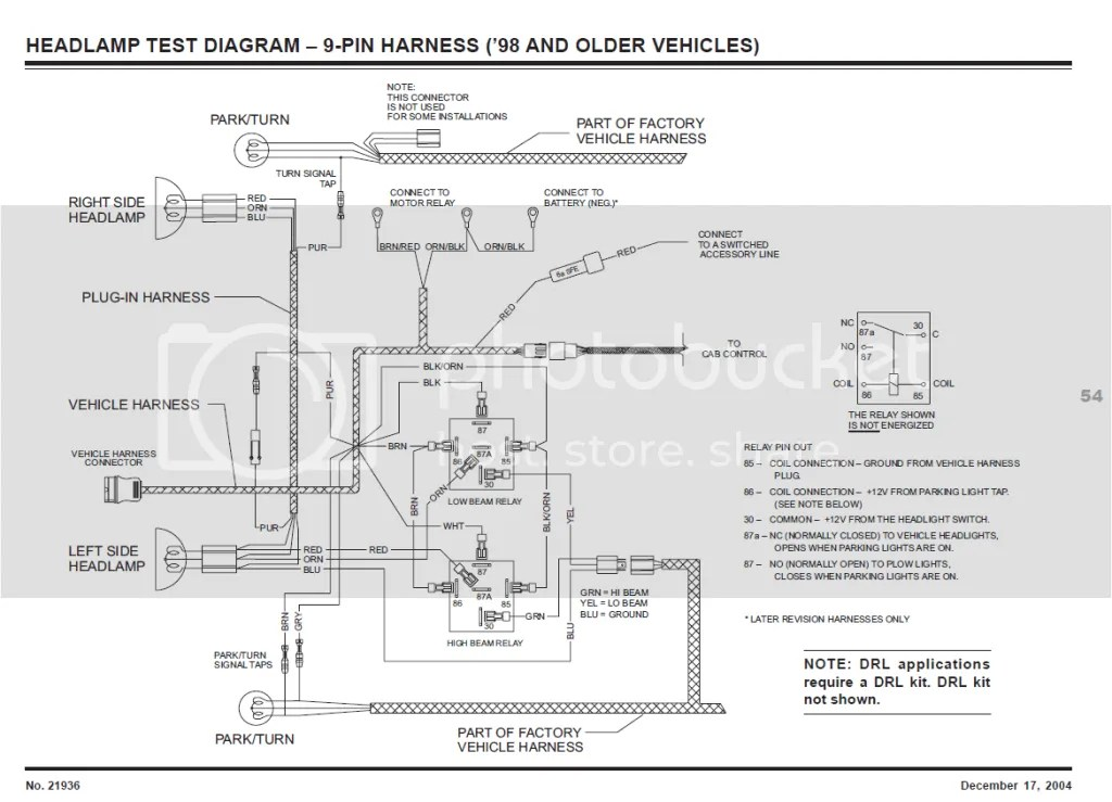 11 Pin Boss Plow Wiring Diagram Fisher Mm1 Plow Lights Not Switching Over Plowsite