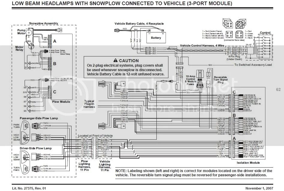 lowbeams western snow plow wiring diagram efcaviation com western unimount wire harness at bakdesigns.co