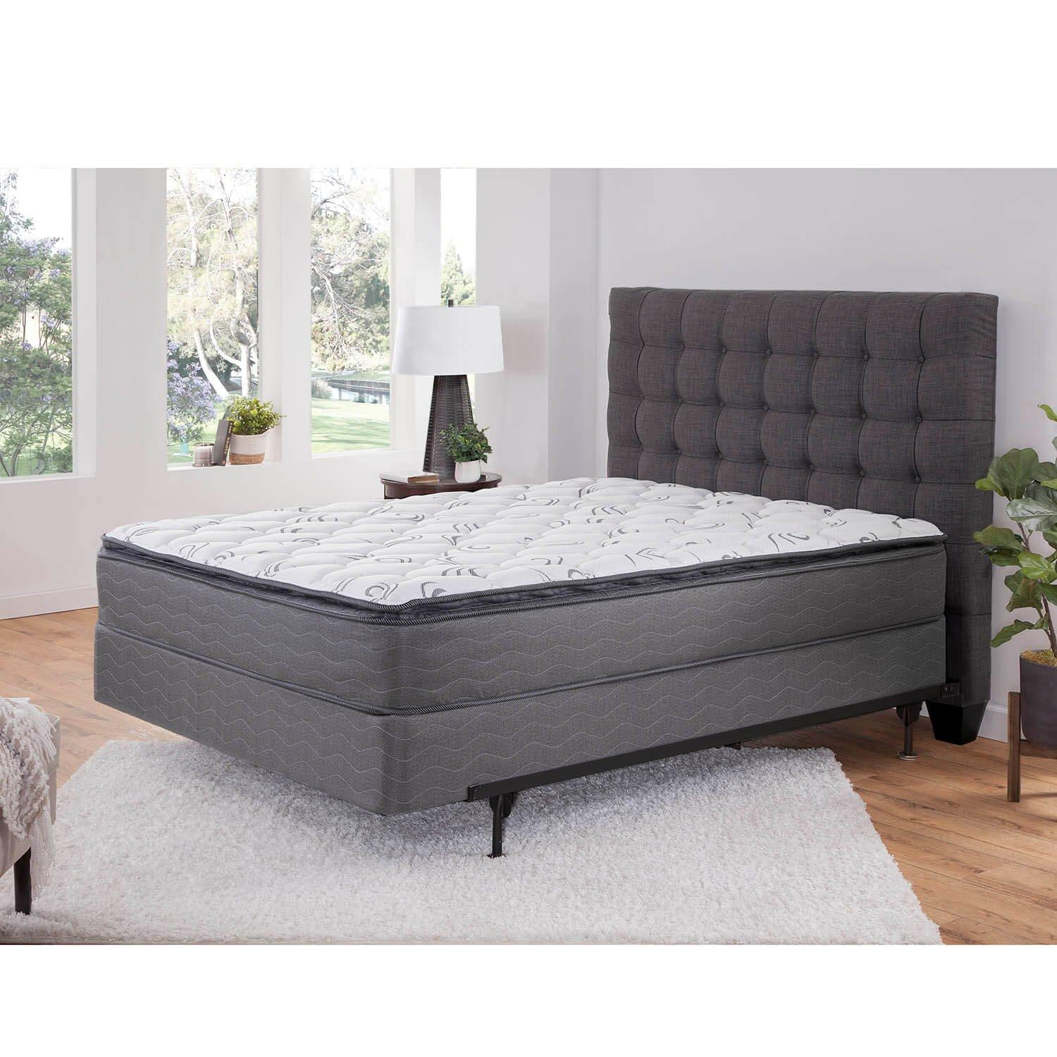 pillowtop plush queen mattress with 9 foundation and protectors