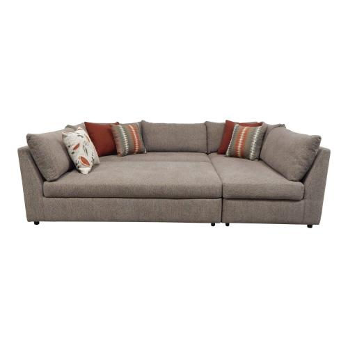 3 piece puzzle chaise sectional sofa