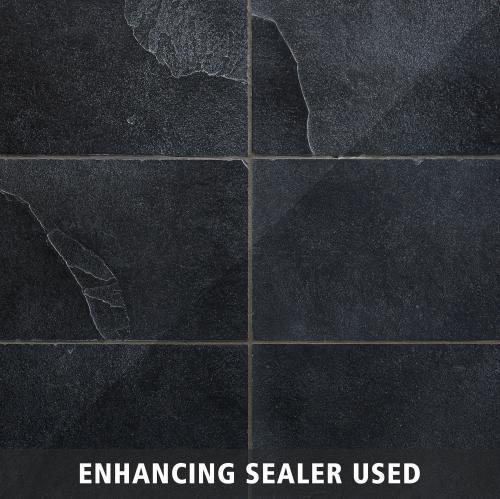 black brushed limestone tile 12 x 24