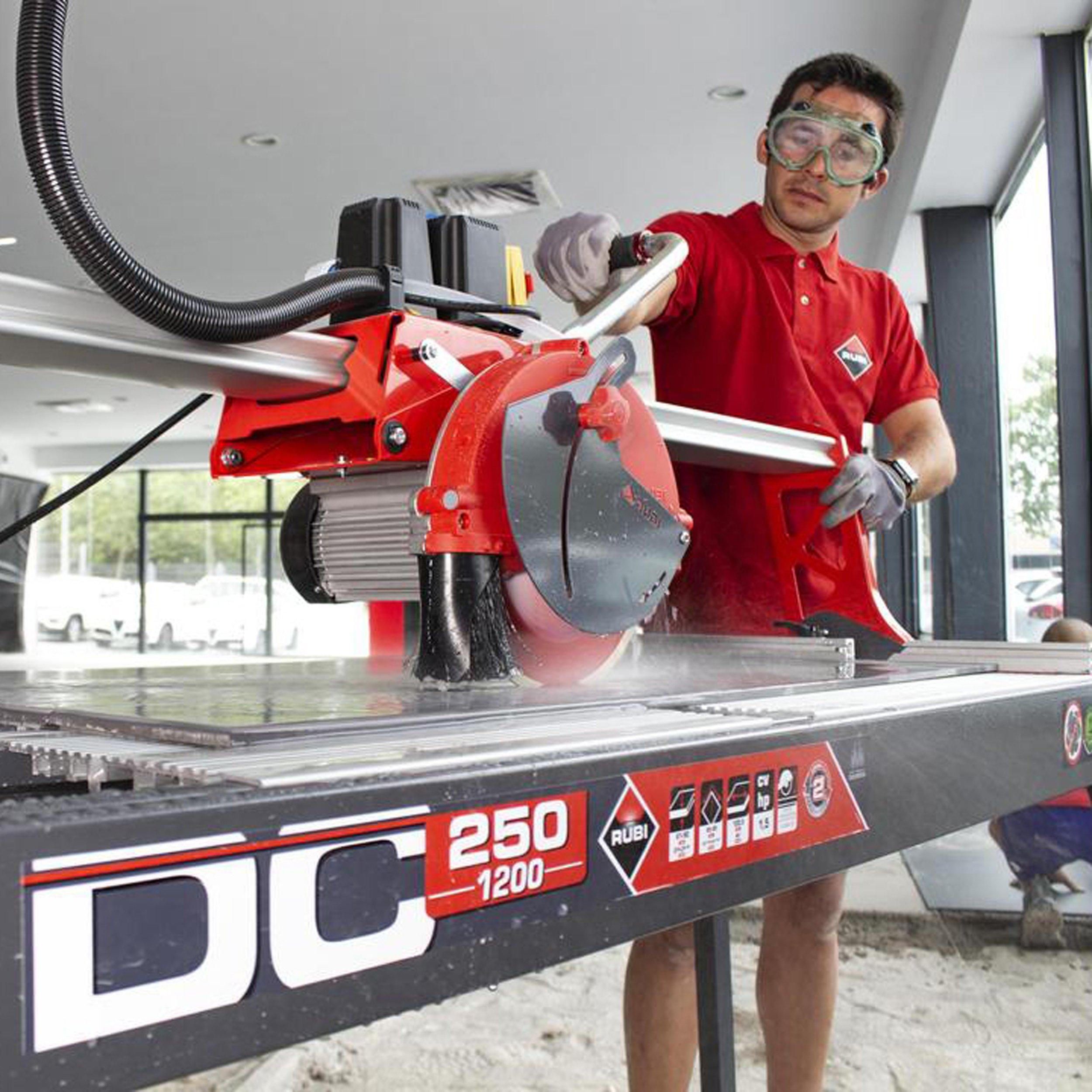 rubi dc 250 1200 rail tile wet saw