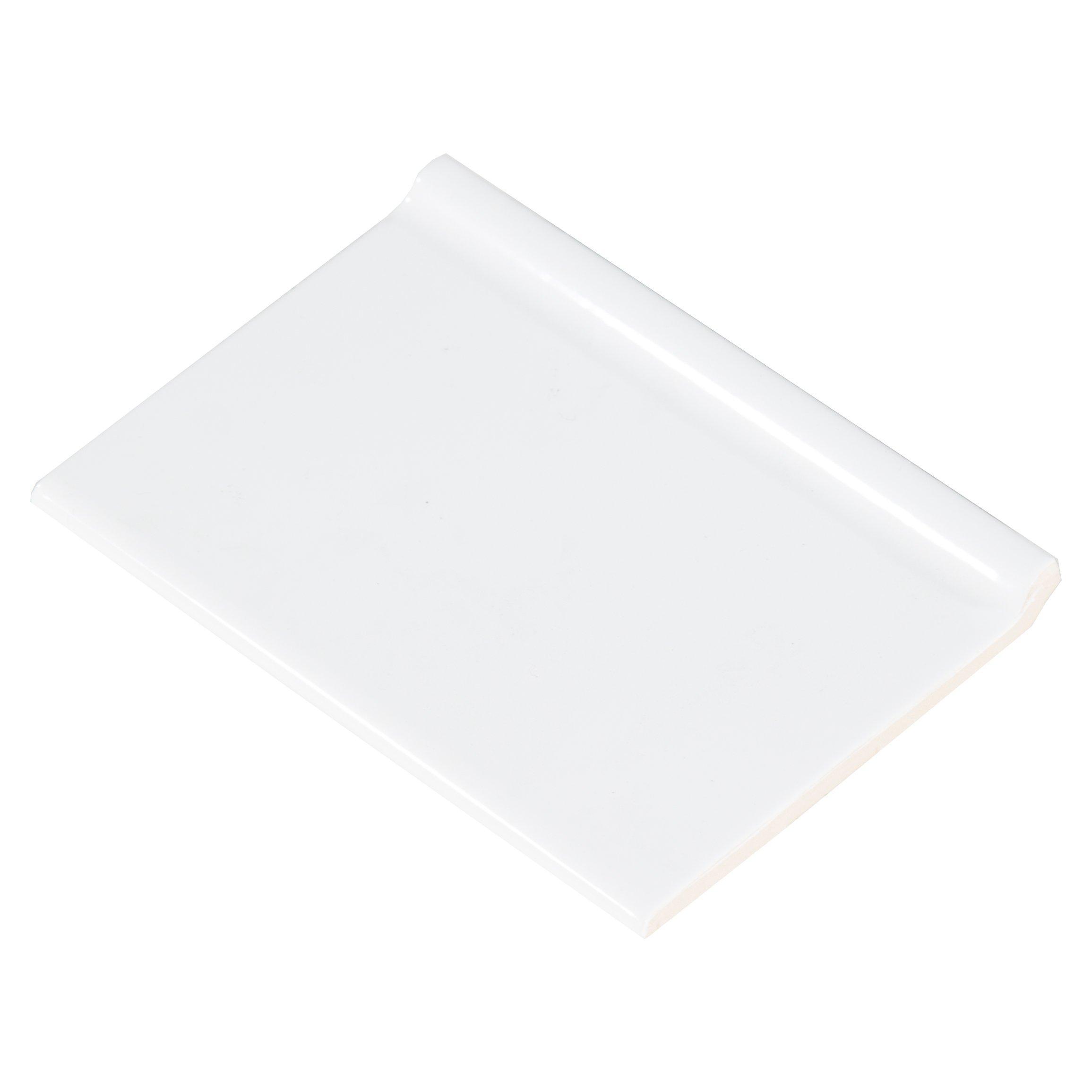 bright white ice ceramic bullnose 2 x