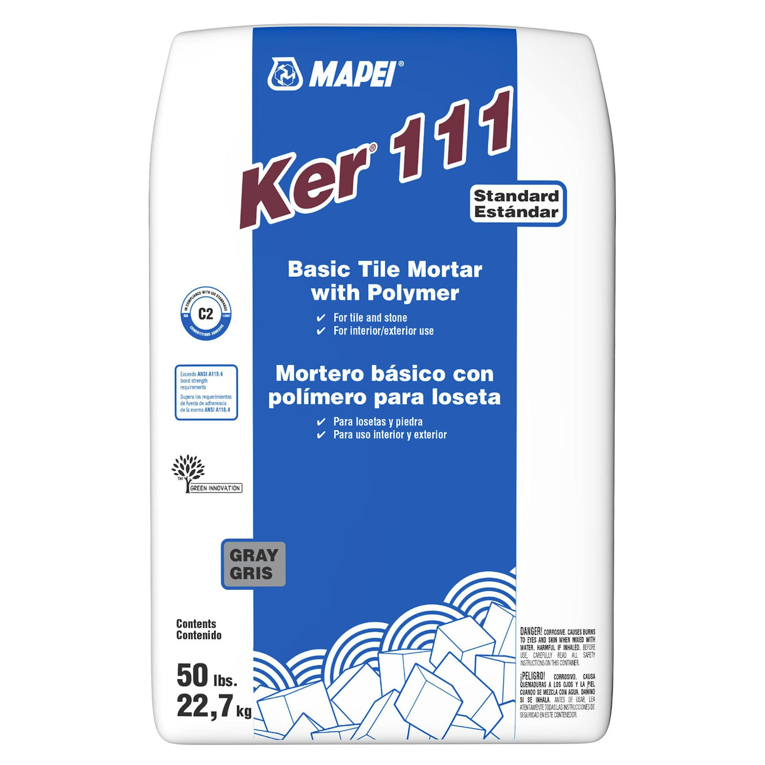 mapei ker 111 gray basic tile mortar with polymer